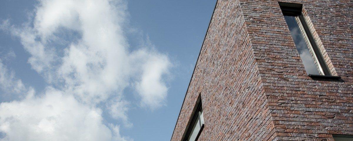 Nieuwbouw Gelijmde Gevelsteen Zonhoven Amsterdam Impression De Saegher